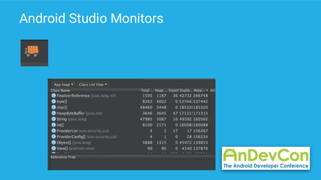 Android Studio Monitors