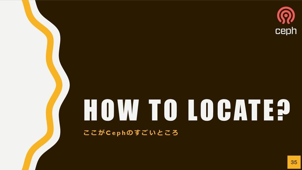 HOW TO LOCATE? こ こ が C e p h の す ご い と こ ろ 35