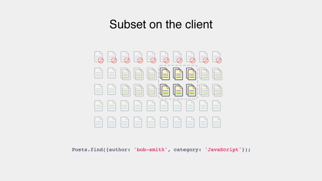 Subset on the client
