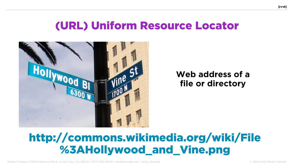 (URL) Uniform Resource Locator http://commons.w...
