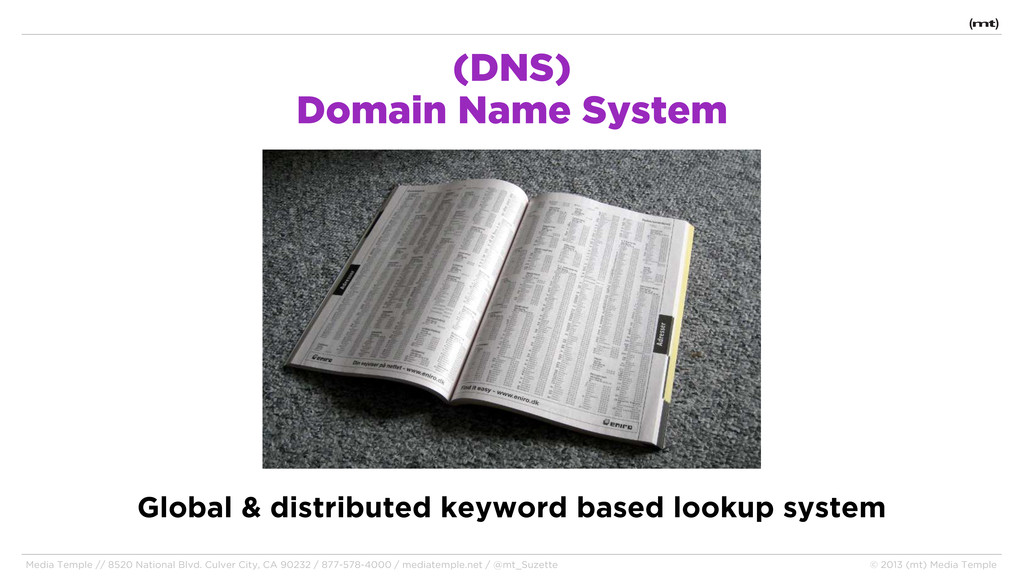 (DNS) Domain Name System Media Temple // 8520 N...