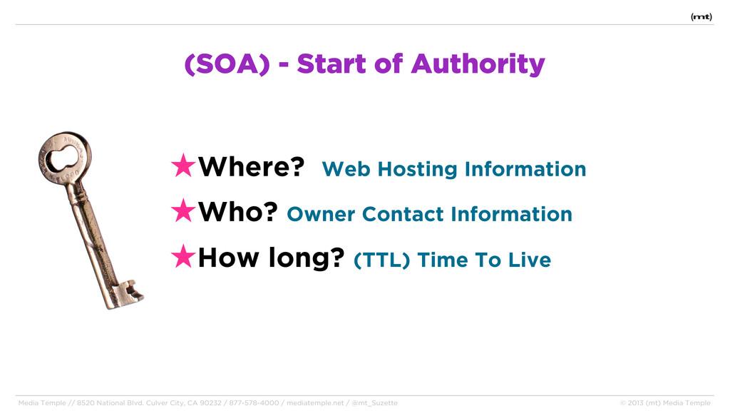 (SOA) - Start of Authority ★Where? Web Hosting ...