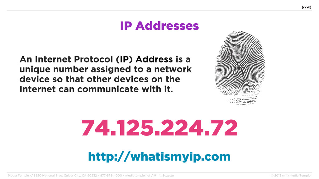 IP Addresses An Internet Protocol (IP) Address ...