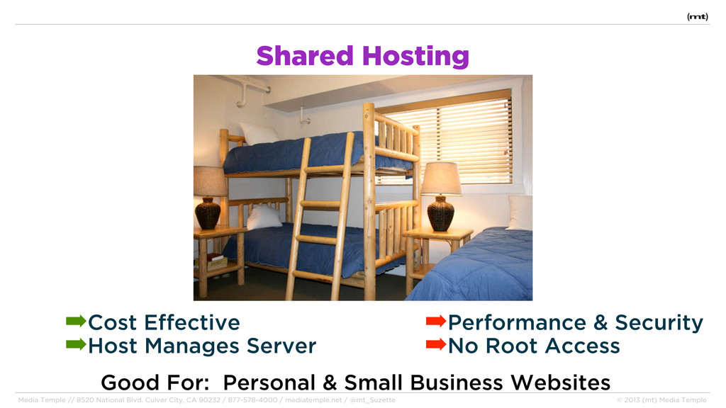 Shared Hosting Good For: Personal & Small Busin...