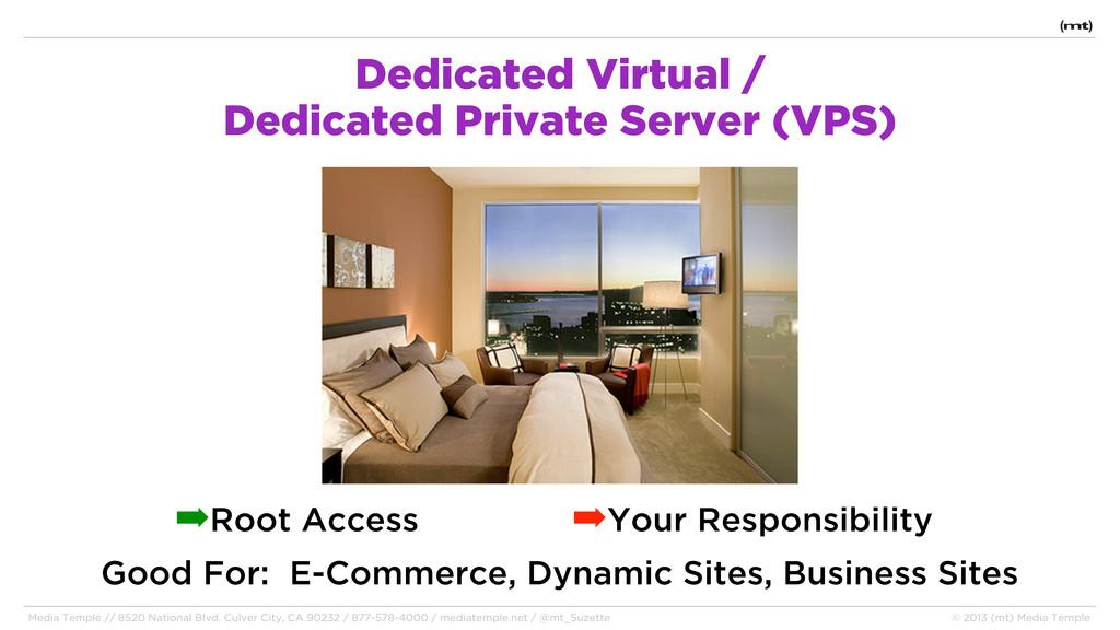 Dedicated Virtual / Dedicated Private Server (V...