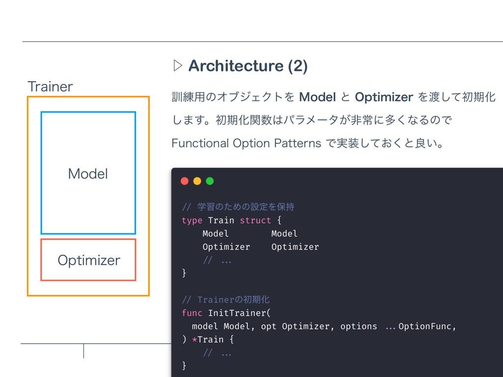 Architecture (2) Ὂ ܇࿅༻ͷΦϒδΣΫτΛ.PEFMͱ0QUJNJ[F...