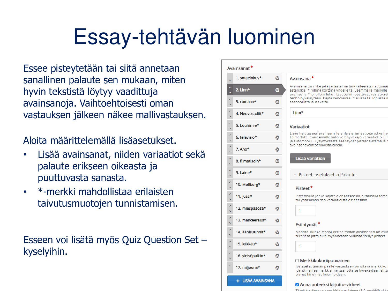 Interactive video Interaktiivisen videon avulla...