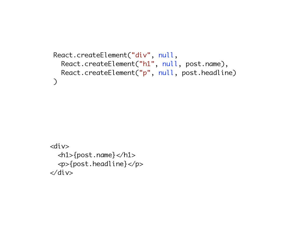 """React.createElement(""""div"""", null, React.createEl..."""