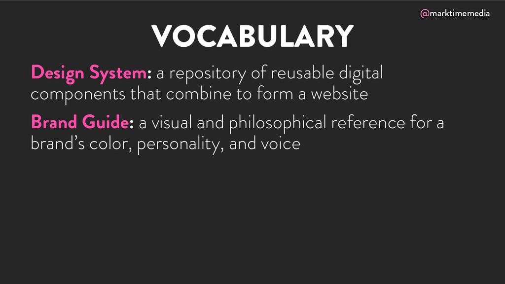@marktimemedia VOCABULARY Design System: a repo...