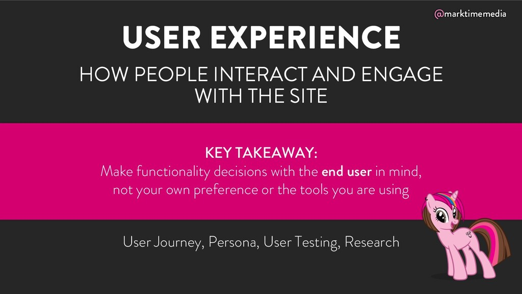 @marktimemedia USER EXPERIENCE HOW PEOPLE INTER...