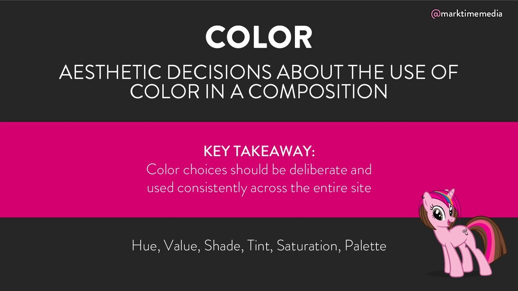 @marktimemedia COLOR AESTHETIC DECISIONS ABOUT ...