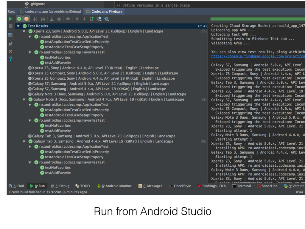 Run from Android Studio