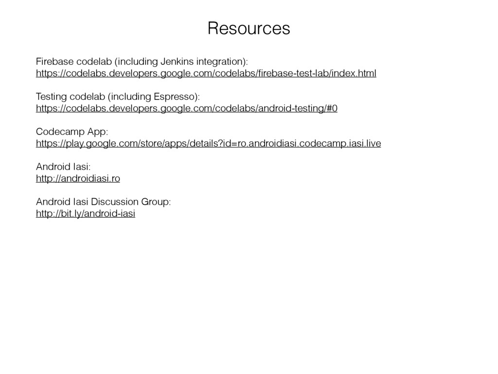 Firebase codelab (including Jenkins integration...