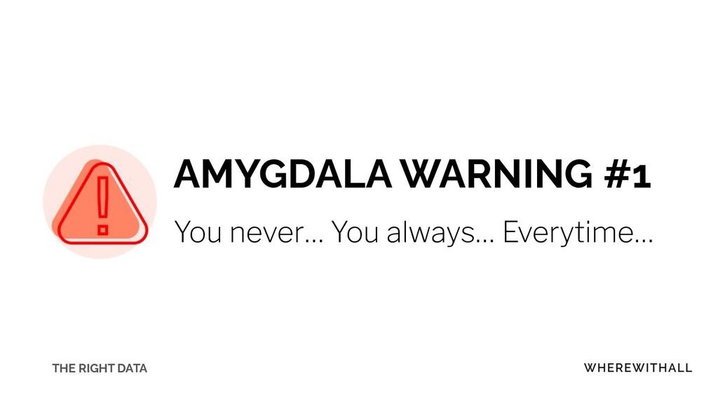 AMYGDALA WARNING #1 You never… You always… Ever...