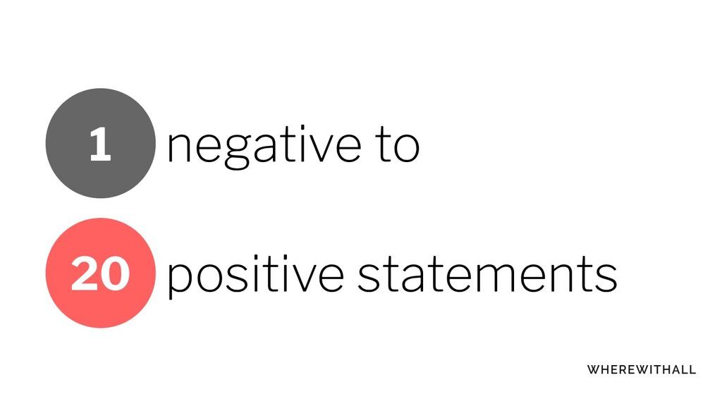 negative to positive statements 20 1