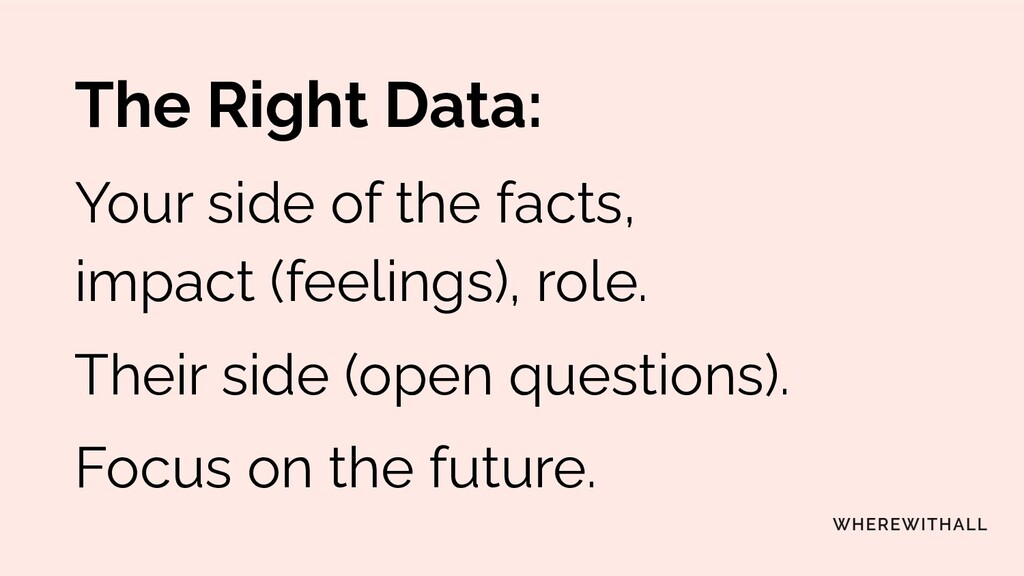 The Right Data: Your side of the facts, impact ...