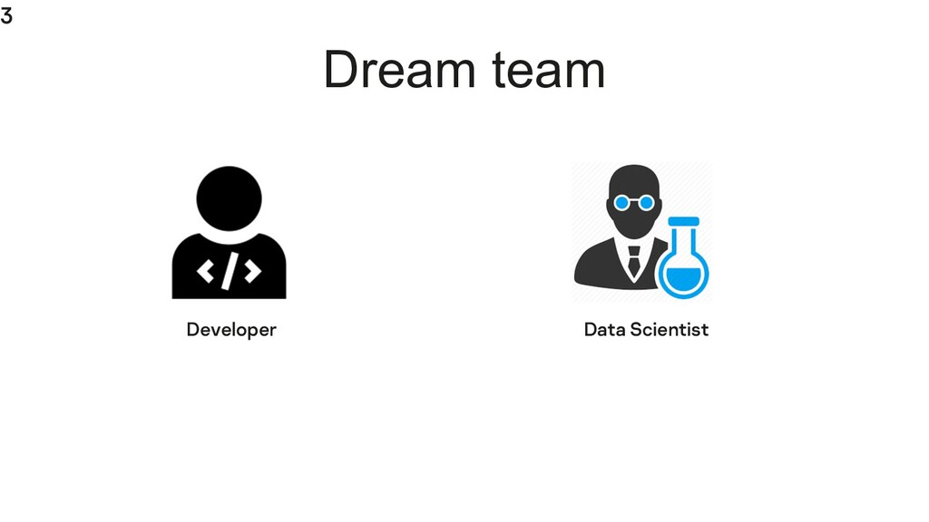 3 Dream team Developer Data Scientist