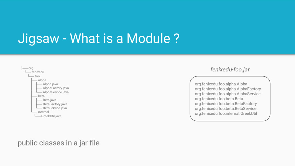 Jigsaw - What is a Module ? org.fenixedu.foo.al...