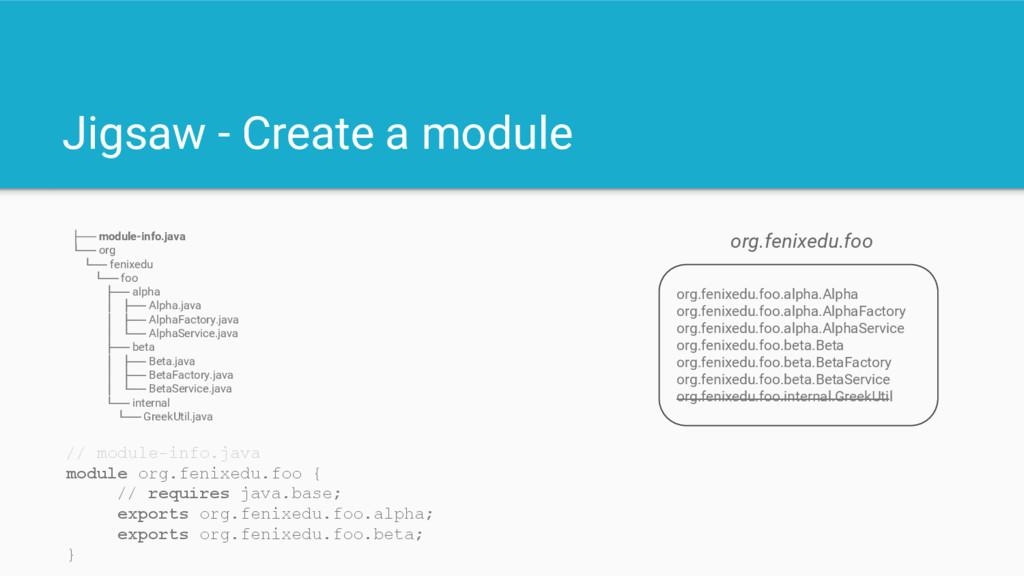 Jigsaw - Create a module org.fenixedu.foo.alpha...