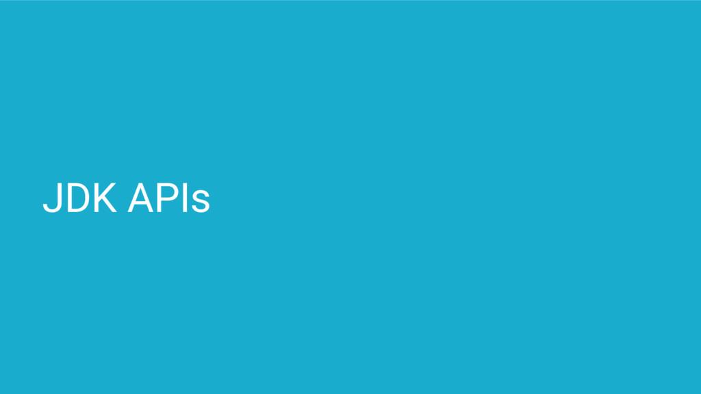JDK APIs