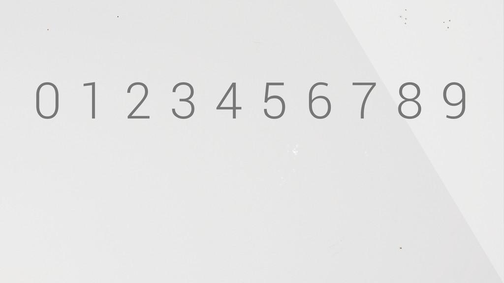 0 1 2 3 4 5 6 7 8 9