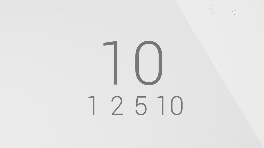 1 2 5 10 10