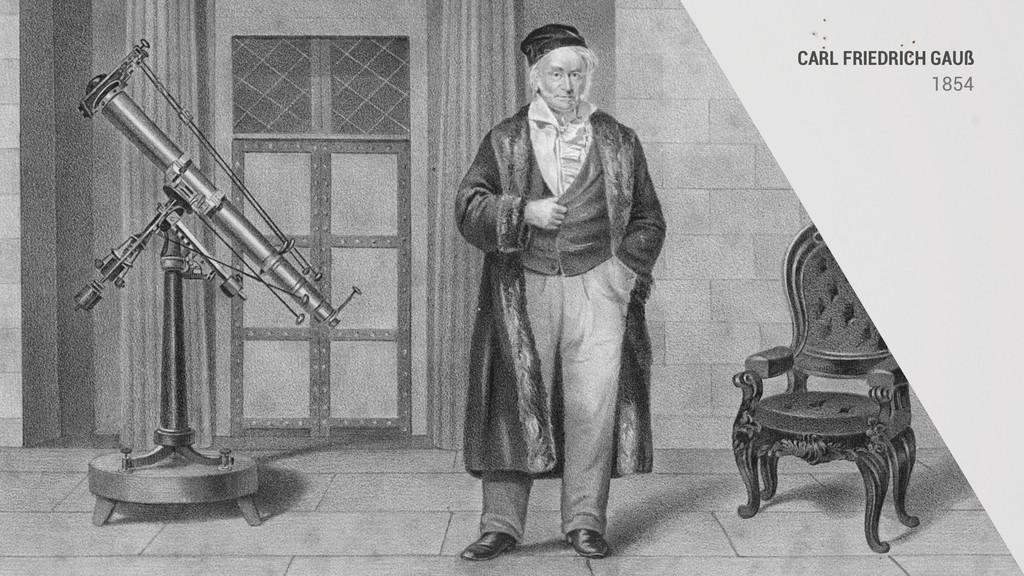 CARL FRIEDRICH GAUß 1854