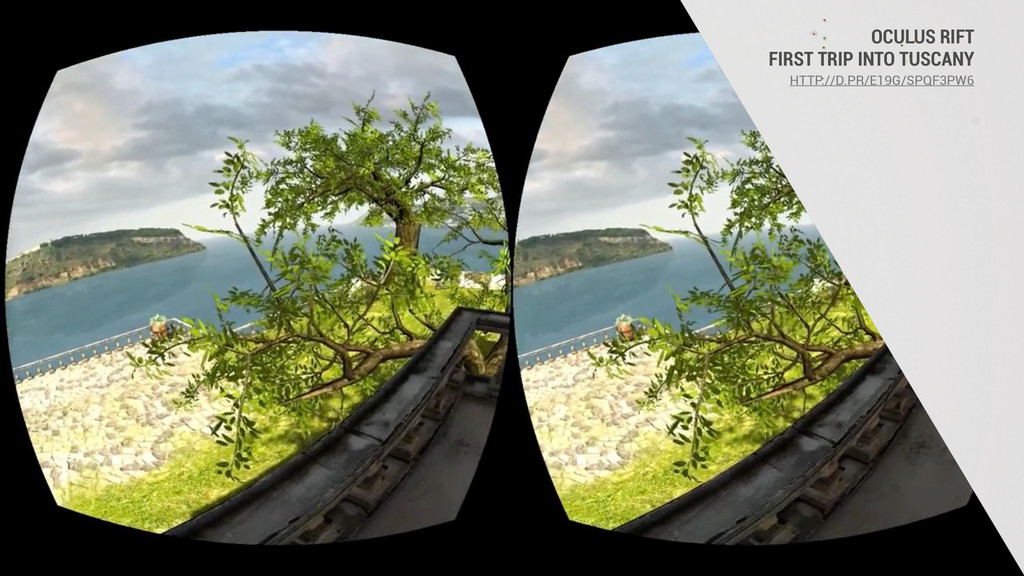 OCULUS RIFT FIRST TRIP INTO TUSCANY HTTP://D.PR...