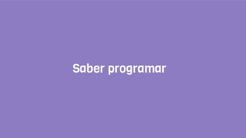Saber programar