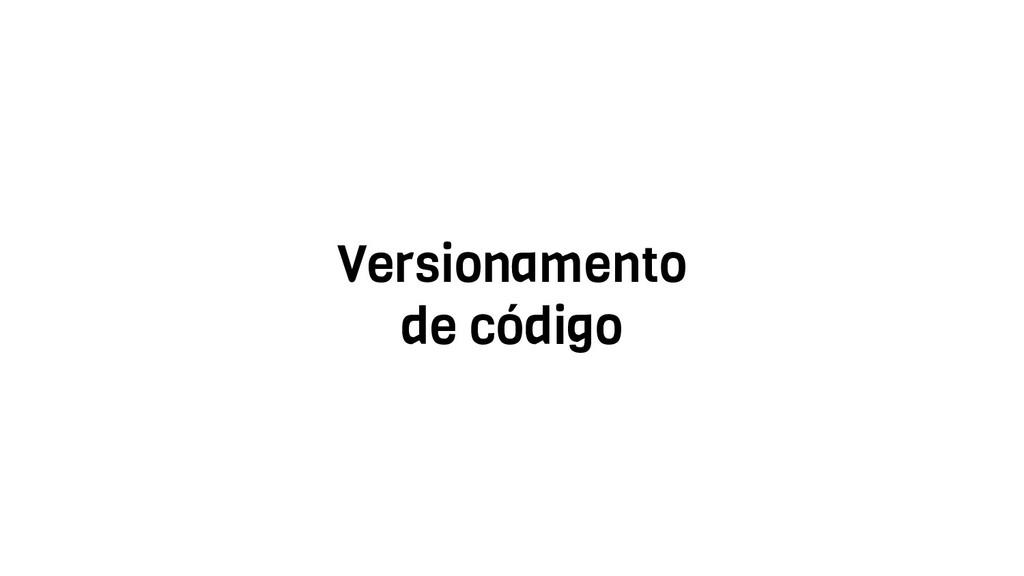 Versionamento de código