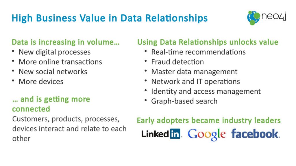 High Business Value in Data Relationships Data ...
