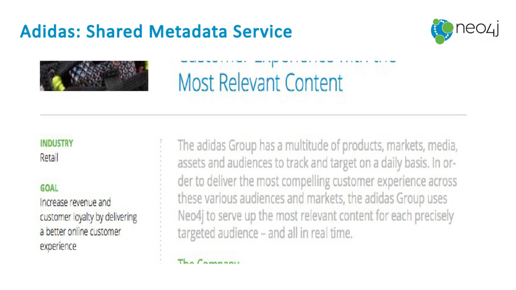 Adidas: Shared Metadata Service
