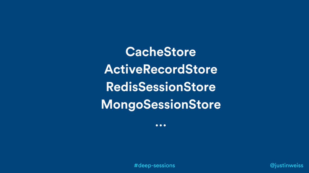 @justinweiss #deep-sessions CacheStore ActiveRe...