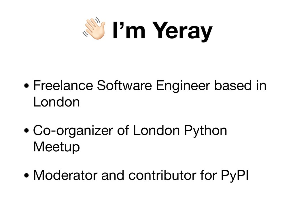! I'm Yeray • Freelance Software Engineer based...