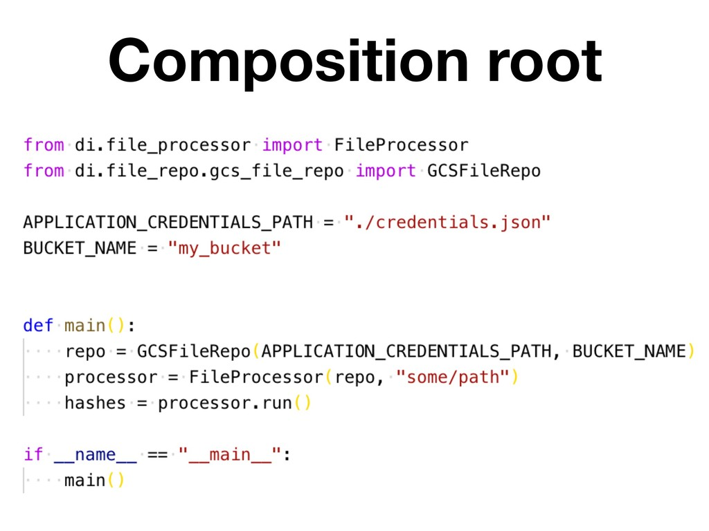 Composition root