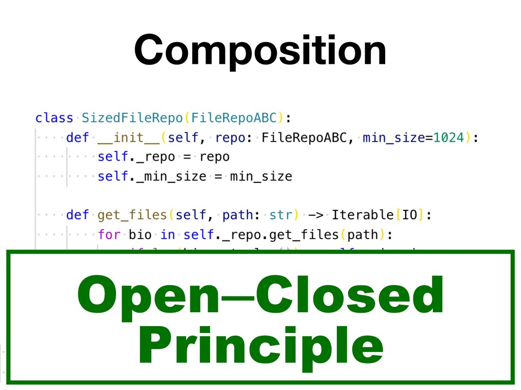 Composition Open ̶Closed Principle
