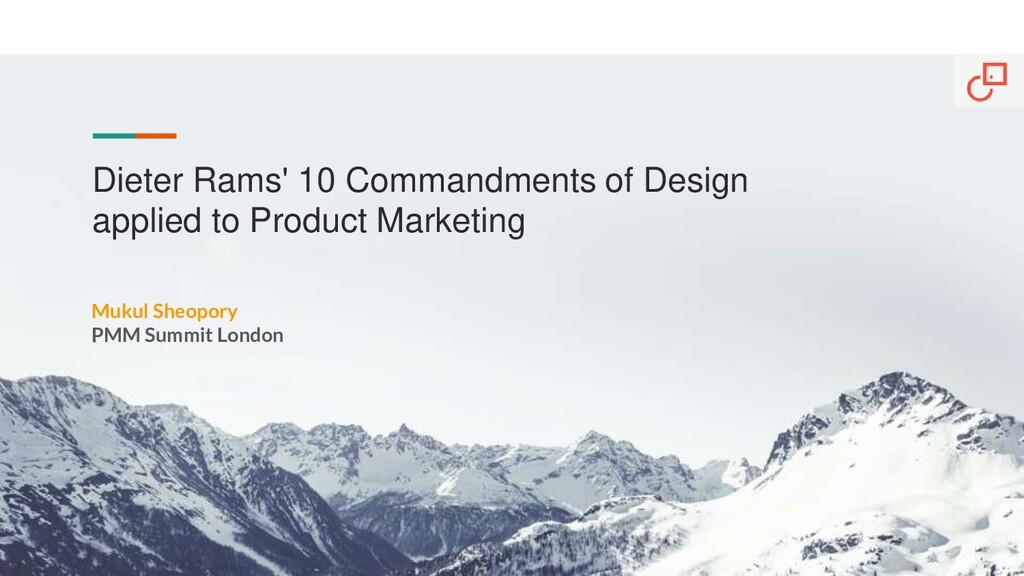 Dieter Rams' 10 Commandments of Design applied ...