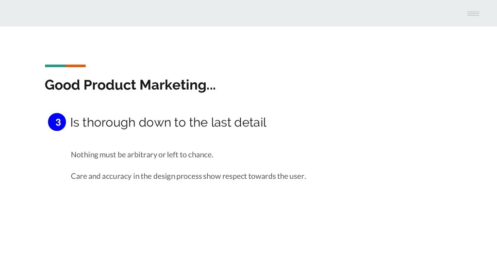 Good Product Marketing... Is thorough down to t...