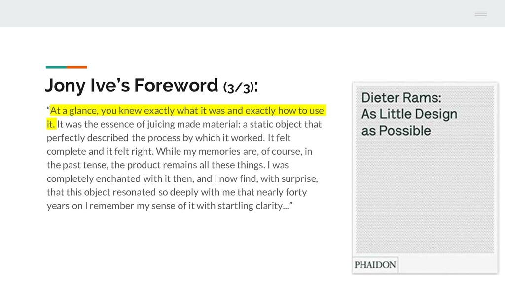"""Jony Ive's Foreword (3/3): """"At a glance, you kn..."""