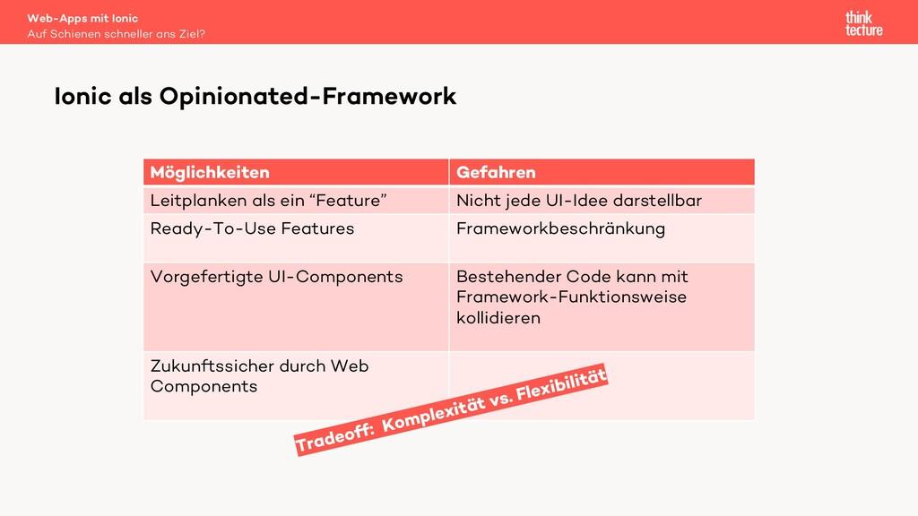 Ionic als Opinionated-Framework Auf Schienen sc...