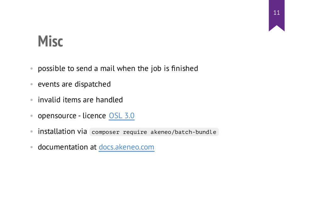 Misc • possible to send a mail when the job is ...