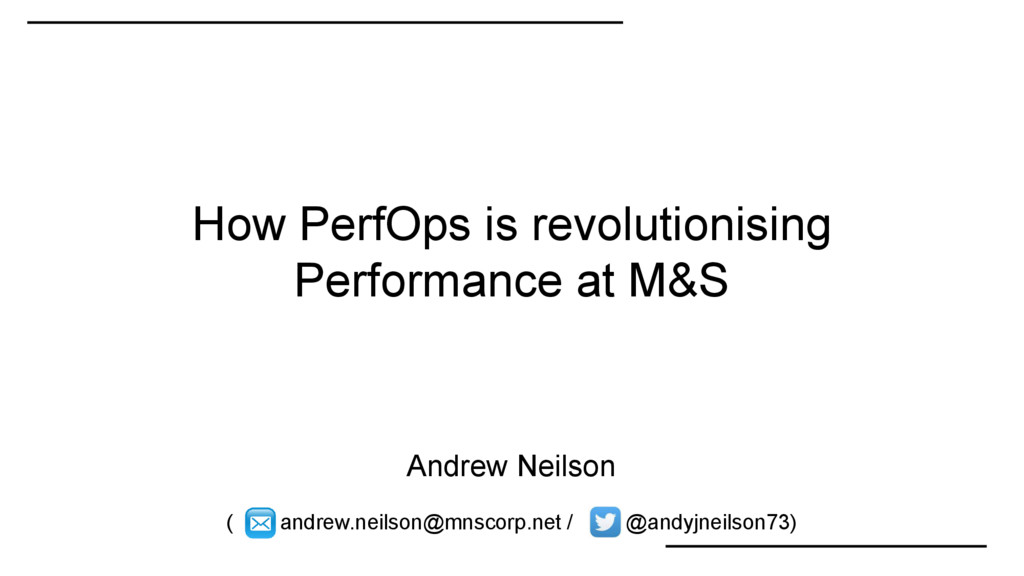 How PerfOps is revolutionising Performance at M...