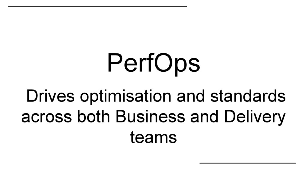 PerfOps Drives optimisation and standards acros...