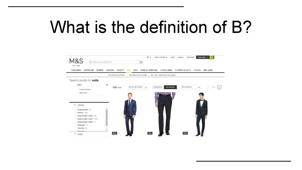 What is the definition of B?