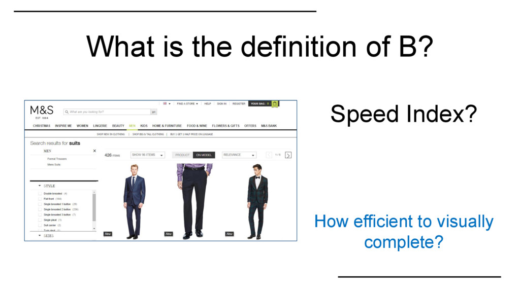 What is the definition of B? Speed Index? How e...