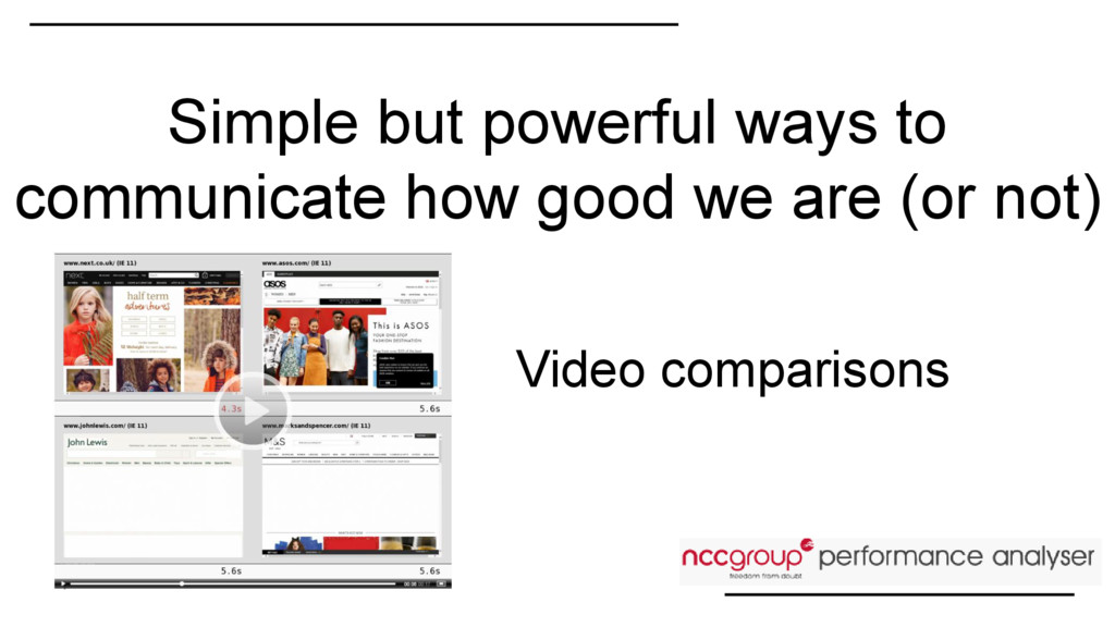 Video comparisons Simple but powerful ways to c...