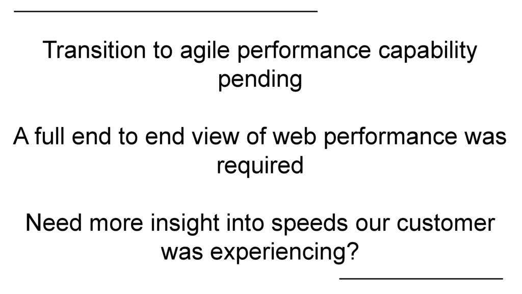 Transition to agile performance capability pend...