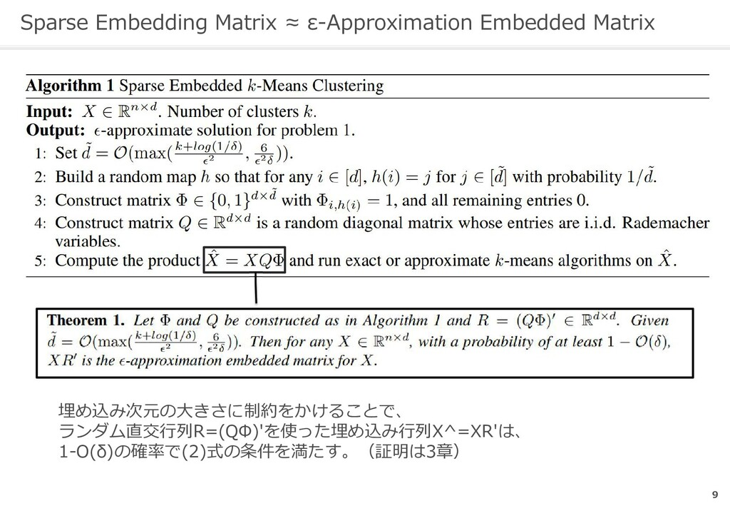 Sparse Embedding Matrix ≈ ε-Approximation Embed...