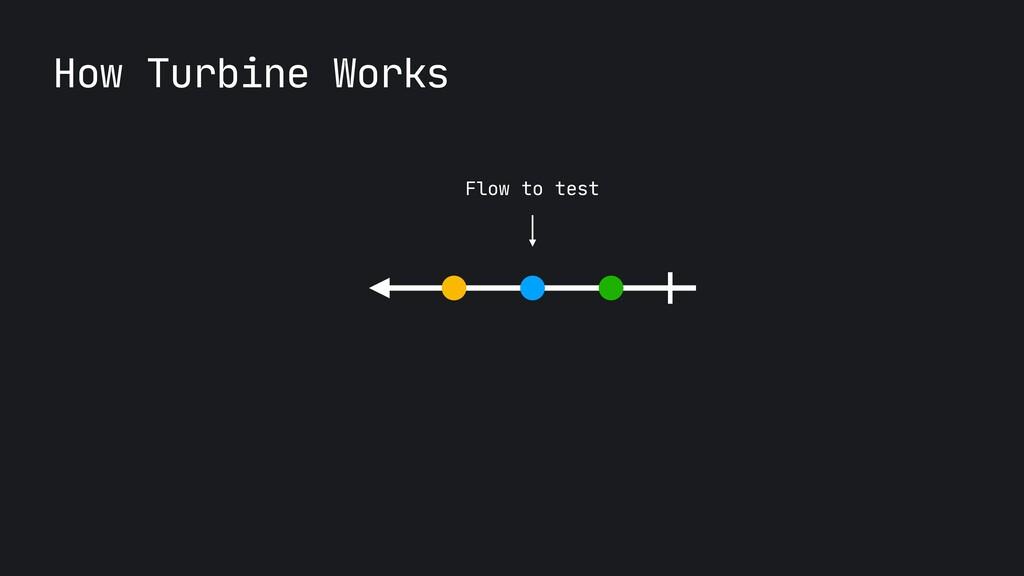 Flow to test How Turbine Works