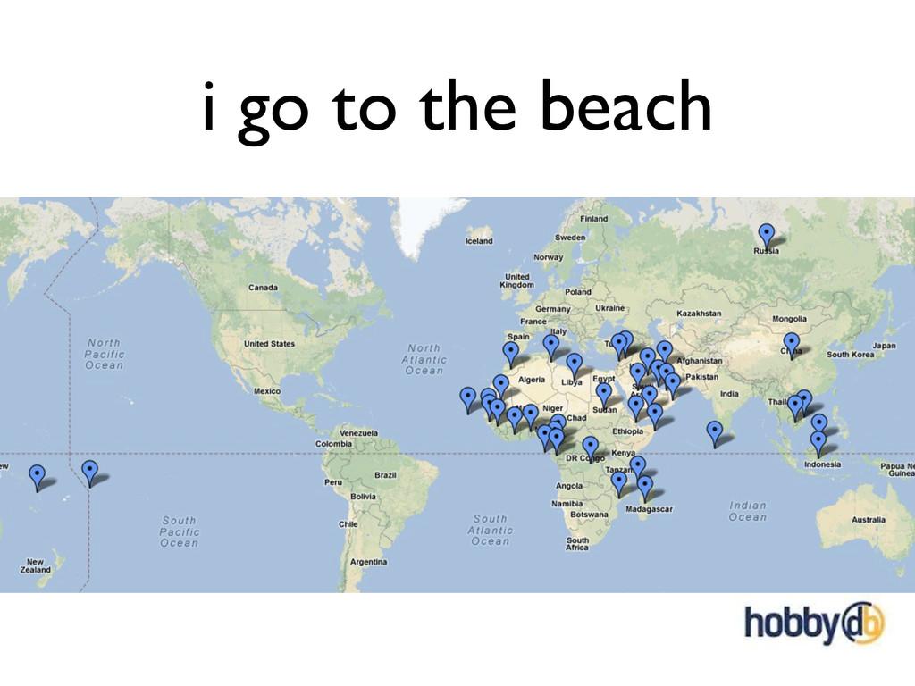 i go to the beach